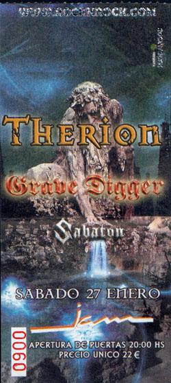 billet therion 2007